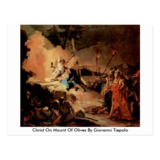Cristo en el monte de los Olivos de Juan Tiepolo Postal