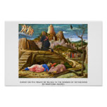 Cristo en el monte de los Olivos de Mantegna Andre Poster
