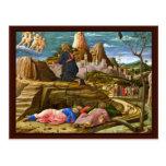 Cristo en el monte de los Olivos de Mantegna Andre Tarjetas Postales