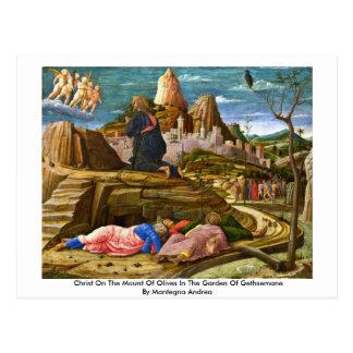 Cristo en el monte de los Olivos de Mantegna Andre Postales