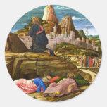 Cristo en el monte de los Olivos de Mantegna Etiquetas Redondas