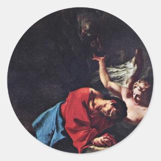Cristo en el monte de los Olivos de Troger Paul Pegatina Redonda
