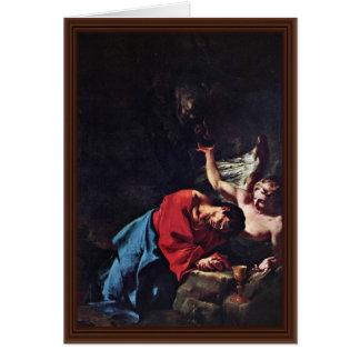 Cristo en el monte de los Olivos de Troger Paul Felicitación