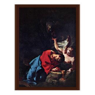 Cristo en el monte de los Olivos de Troger Paul Tarjeta Postal