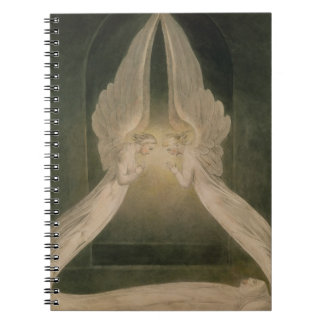 Cristo en el sepulcro guardado por ángeles libros de apuntes