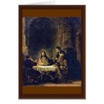 Cristo en Emmaus de Rembrandt Harmensz. Van Rijn Felicitacion