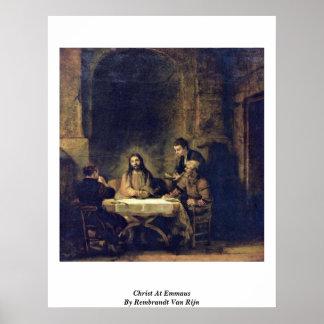 Cristo en Emmaus de Rembrandt Van Rijn Impresiones