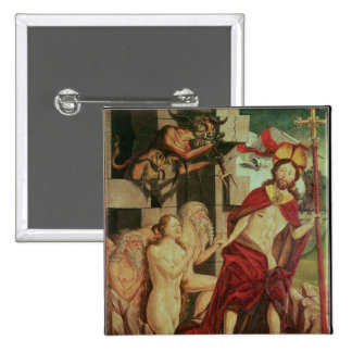 Cristo en infierno pin cuadrada 5 cm