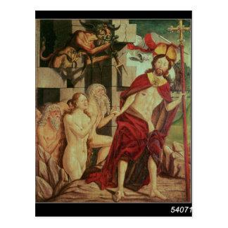 Cristo en infierno postales
