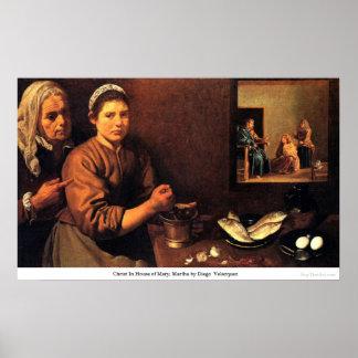 Cristo en la casa de Maria, Martha de Diego Velázq Impresiones