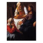 Cristo en la casa de Maria y de Martha Tarjeta Postal