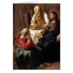Cristo en la casa de Martha, Maria de Juan Vermeer Tarjetas