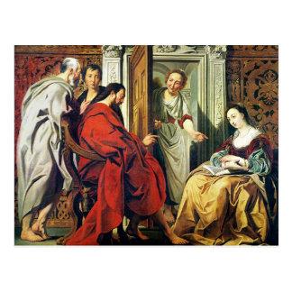 Cristo en la casa de Martha y de Maria de Bethany Postal