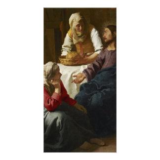 Cristo en la casa de Martha y de Maria por Vermeer Tarjeta Fotografica