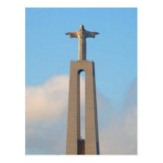 Cristo en la colina en Lisboa Postales