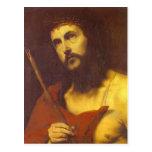 Cristo en la corona de espinas de Jusepe de Ribera Tarjeta Postal
