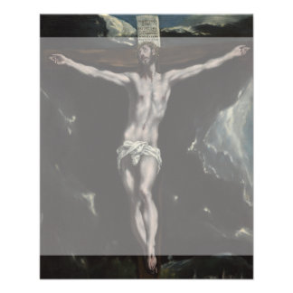 """Cristo en la cruz de El Greco Folleto 4.5"""" X 5.6"""""""