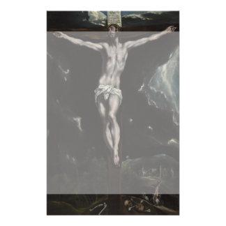 """Cristo en la cruz de El Greco Folleto 5.5"""" X 8.5"""""""
