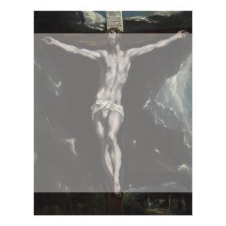"""Cristo en la cruz de El Greco Folleto 8.5"""" X 11"""""""