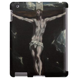 Cristo en la cruz de El Greco Funda Para iPad