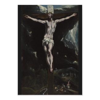 Cristo en la cruz de El Greco Invitacion Personalizada