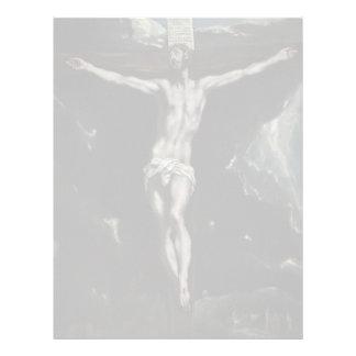 Cristo en la cruz de El Greco Plantilla De Membrete