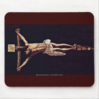 Cristo en la cruz de Zurbarán Francisco De Tapete De Ratones