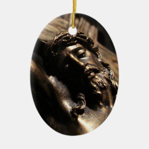Cristo en la cruz adornos de navidad