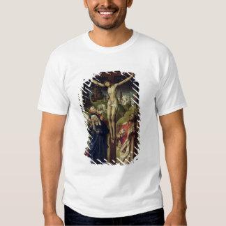 Cristo en la cruz, las mujeres santas playera