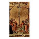 Cristo en la cruz plantillas de tarjetas personales