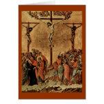 Cristo en la cruz tarjetón