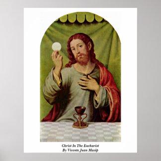 Cristo en la eucaristía de Vicente Juan Masip Impresiones