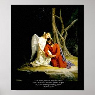 Cristo en la impresión de la lona de bella arte de poster