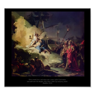 Cristo en la reproducción de la lona de Gethsemane Posters