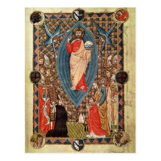 Cristo en majestad con los santos tarjetas postales