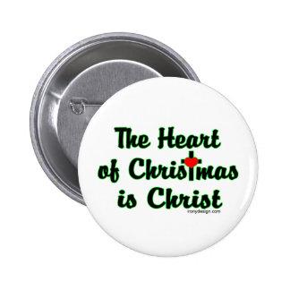 Cristo en navidad pin redondo de 2 pulgadas