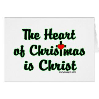 Cristo en navidad tarjeta de felicitación