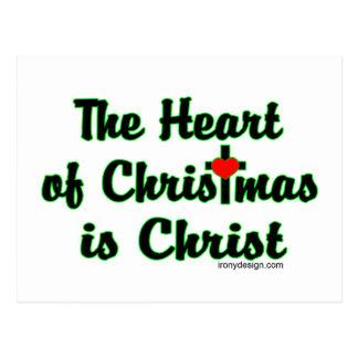 Cristo en navidad tarjeta postal