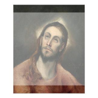 """Cristo en rezo de El Greco Folleto 4.5"""" X 5.6"""""""