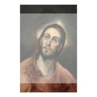 """Cristo en rezo de El Greco Folleto 5.5"""" X 8.5"""""""