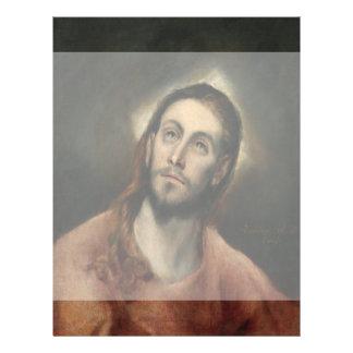 """Cristo en rezo de El Greco Folleto 8.5"""" X 11"""""""