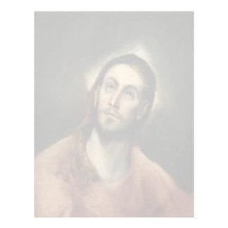 Cristo en rezo de El Greco Plantilla De Membrete