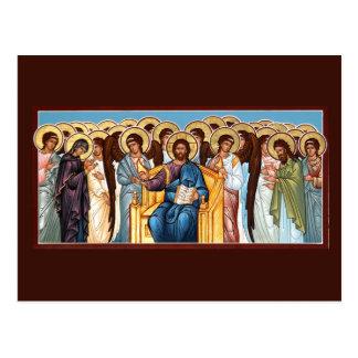 Cristo en tarjeta del rezo de la gloria tarjetas postales