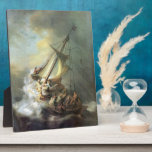 Cristo en una tormenta en el mar de Galilea - Remb Placas De Madera