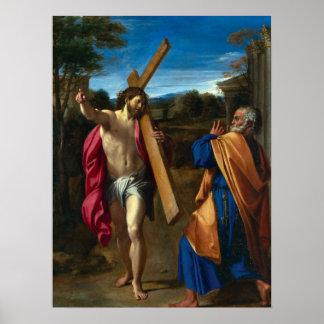 Cristo encuentra a San Pedro Póster