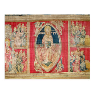 Cristo enthroned con las bestias apocalípticas tarjetas postales