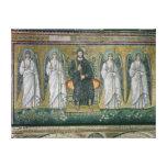 Cristo enthroned con los ángeles impresión en lona