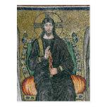 Cristo enthroned con los ángeles postales