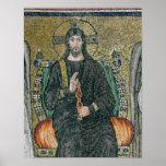 Cristo enthroned con los ángeles póster