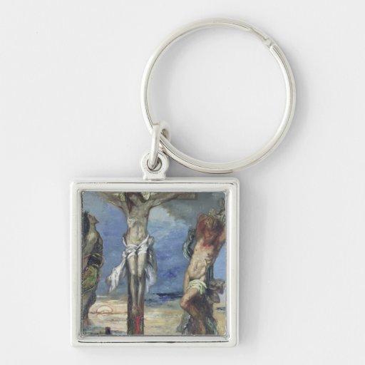 Cristo entre los dos ladrones, c.1870 llaveros